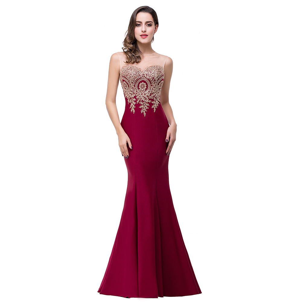 buy real photos robe de soiree 2017 long formal burgundy mermaid prom dresses. Black Bedroom Furniture Sets. Home Design Ideas