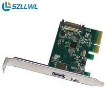 PCI-e для usb3.1 Типа с карты расширения PCI express Type-c + Тип порта USB карты