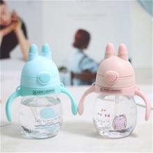 Cartoon Water Cup Rabbit Ear Handle Baby Learn Drinking