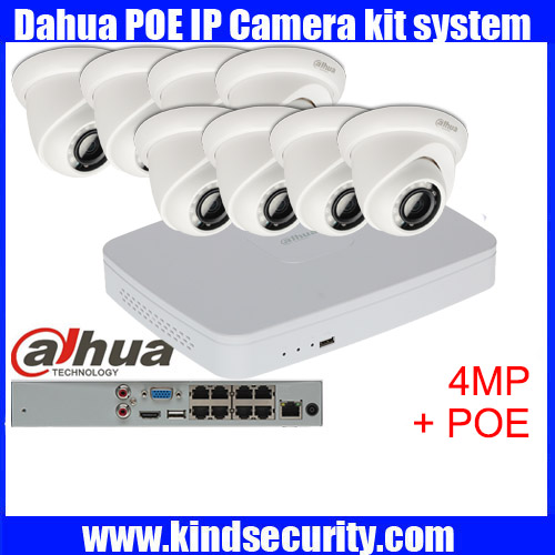 Dahua 8pcs 4MP POE IP Camera DH IPC HDW4421S System Security Camera Outdoor 8CH 1080P NVR4116