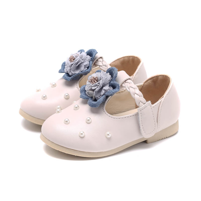 JGSHOWKITO Princess Girls Shoes Fashion Sweet Floral Kids Shoes Childrens Casual Leather Shoes With Flowers Pearl Soft WeddingJGSHOWKITO Princess Girls Shoes Fashion Sweet Floral Kids Shoes Childrens Casual Leather Shoes With Flowers Pearl Soft Wedding