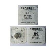 3 X renata Silver Oxide Watch Battery 393 SR754W 754 1 55V