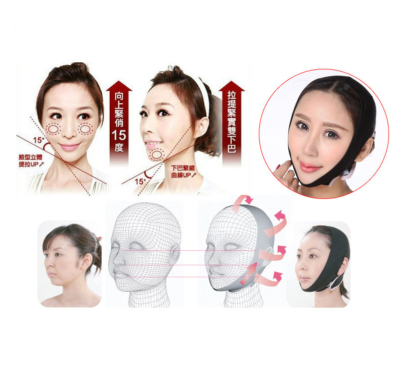 Cn Herb Potent Thin Face With Compact Thin Face Jaw Tool Face Shape Correction Thin Face Bandage in Massage Relaxation from Beauty Health