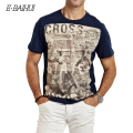 E-BAIHUI brand Summer style Men Cotton Clothing T-shirtS casual T-Shirt Fitness tops Tees Skateboard Moleton men's t-shirts Y032