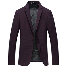 2017 new arrival spring and autumn style high quality men's fashion leisure slim wine colors blazer casual suit coat M-3XL