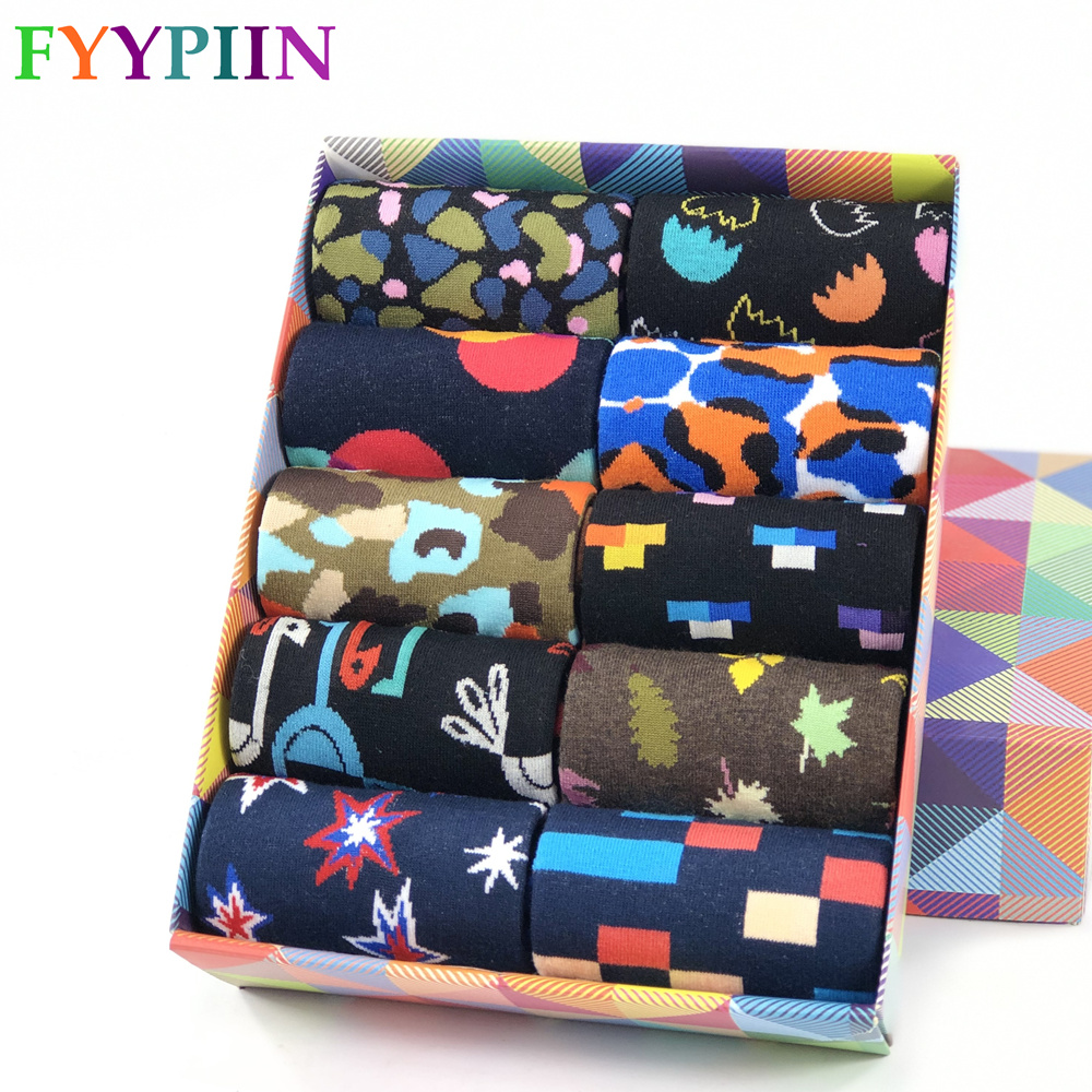 Men Socks The New Standard Popular Male Cotton Socks Hip Hop Colorful Happy Skateboarding Happy Socks Men