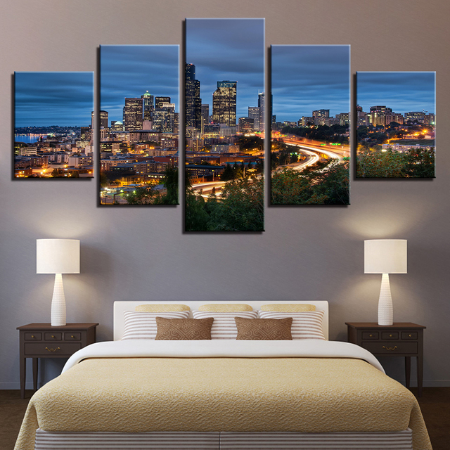 Canvas Wall Art Pictures Modern Frame Living Room 5 Pieces ...