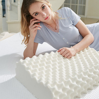 Massage Acupressure Pillow Natural Latex Mat Helps Sleep Protection Neck Back Quick Response Multi Purpose Care Pillow