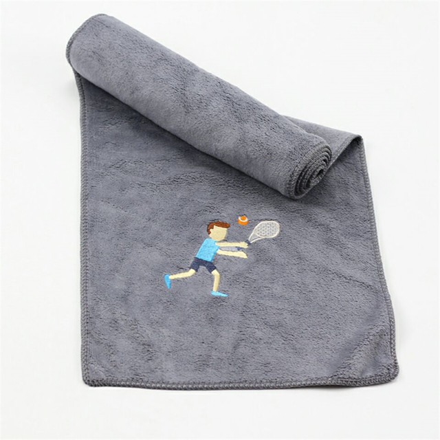 2018 New 1pc 20*110cm Long Sports Quick-drying Towel Popular Beauty Microfiber Yoga Running Bicycling Embroidery Gym Towel