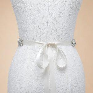 Image 4 - JLZXSY fait à la main fleur Design strass ceinture de mariage demoiselle dhonneur robe de soirée ceinture accessoires de mariage Brida ceinture