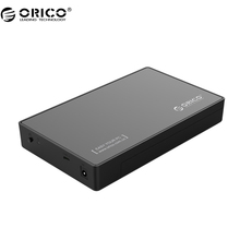 ORICO 3588C3 3.5 inch Hard Drive Enclosure with USB3.1 Type-C Port, 12V2A Power Adapter (Not including HDD)- Black