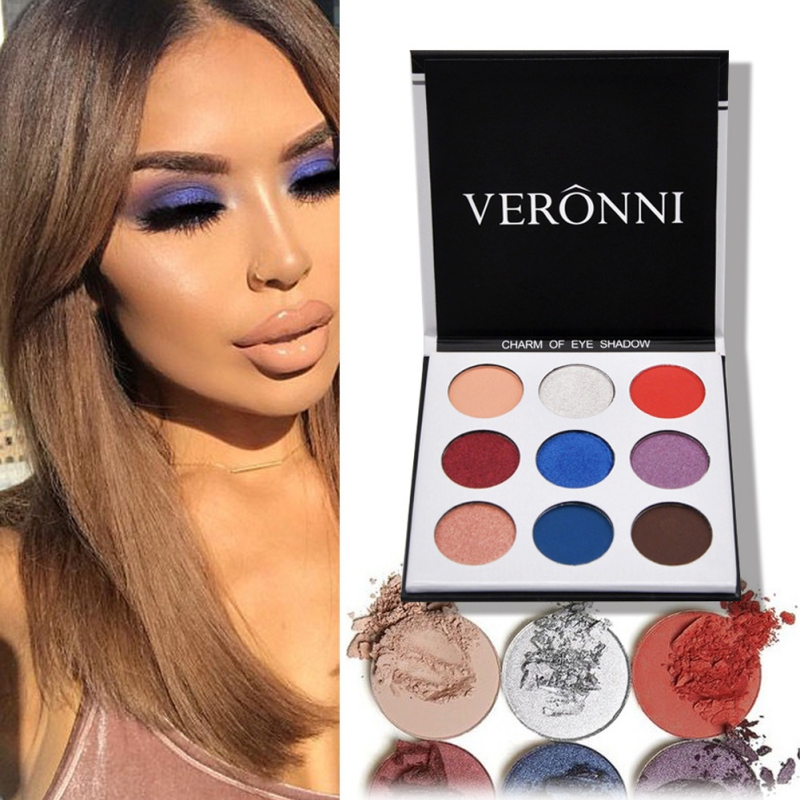 9Colors Eye Shadow Palette Natural Shimmer Matte Eyeshadow Powder Brand Professional Eyes Makeup Pallete Maquiagem 12