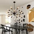 Sputnik Mid Century винтажная Современная промышленная железная Подвесная лампа освещение Лофт светильник