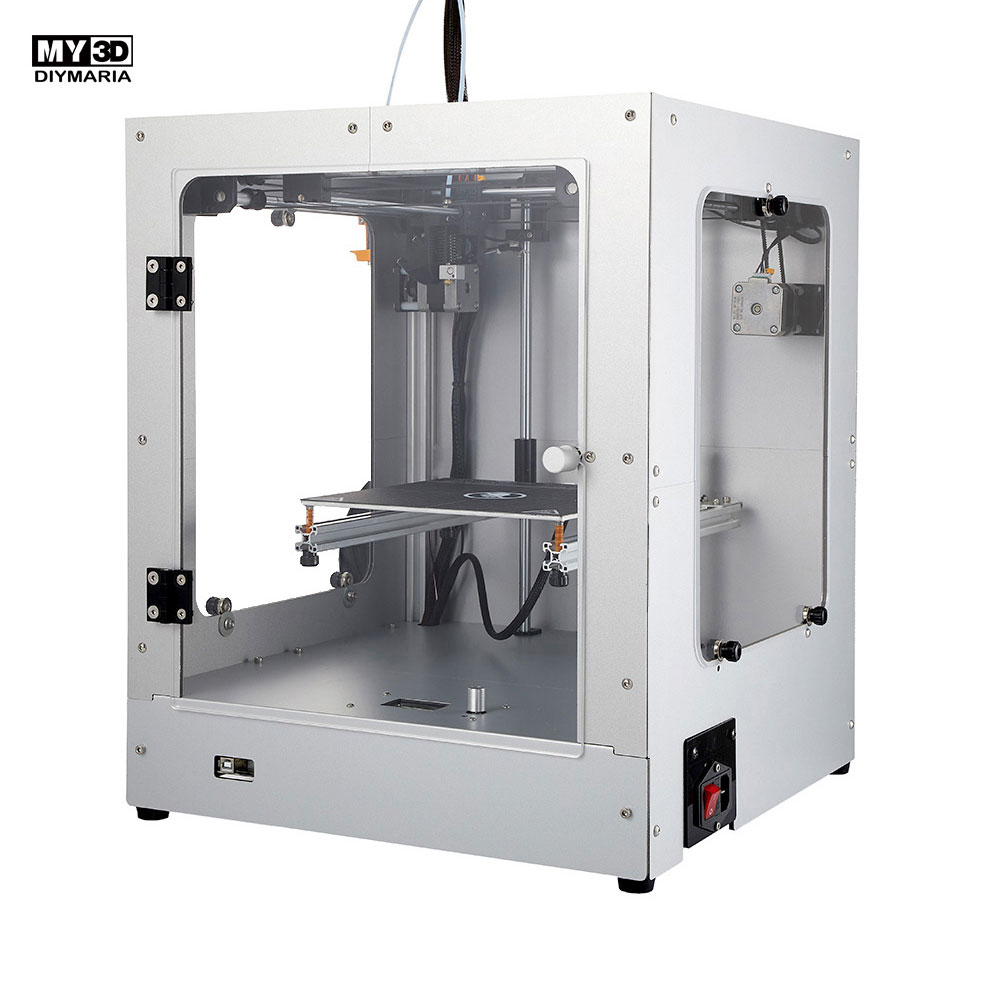 2019 DIY nueva estructura cruzada 3d impresora 360 W potencia HD pantalla FDM impresora Kit estructura de aluminio cama caliente magnética 205*205*245mm