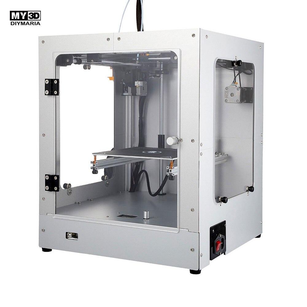 2019 New FAI DA TE Croce Struttura 3d stampante 360 W di potenza HD dello schermo FDM Stampante Kit struttura in alluminio Magnetica letto caldo 205*205*245 millimetri