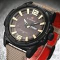 2016 horas de naviforce reloj de hombre de lujo reloj militar hombres deportes reloj de cuarzo fecha reloj hombres de la marca casual reloj de nylon