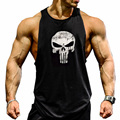 2017 Gyms Tank Top Men Blank Bodybuilding Clothing Stringer Singlets Fitness Men Gyms Sleeveless Vest Cotton Blusa Masculina