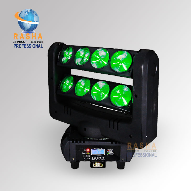 Rasha RPAS 8*10W 4in1 RGBW LED Moving Head Bar Light 4in1 LED Spider Light for KTV DJ Club Party DMX Stage Light