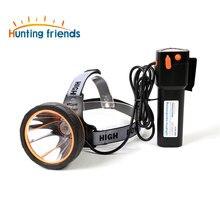 Polowanie przyjaciele potężny reflektor Super jasna latarka czołowa ładowalna latarka wodoodporna latarka czołowa do polowania na ryby