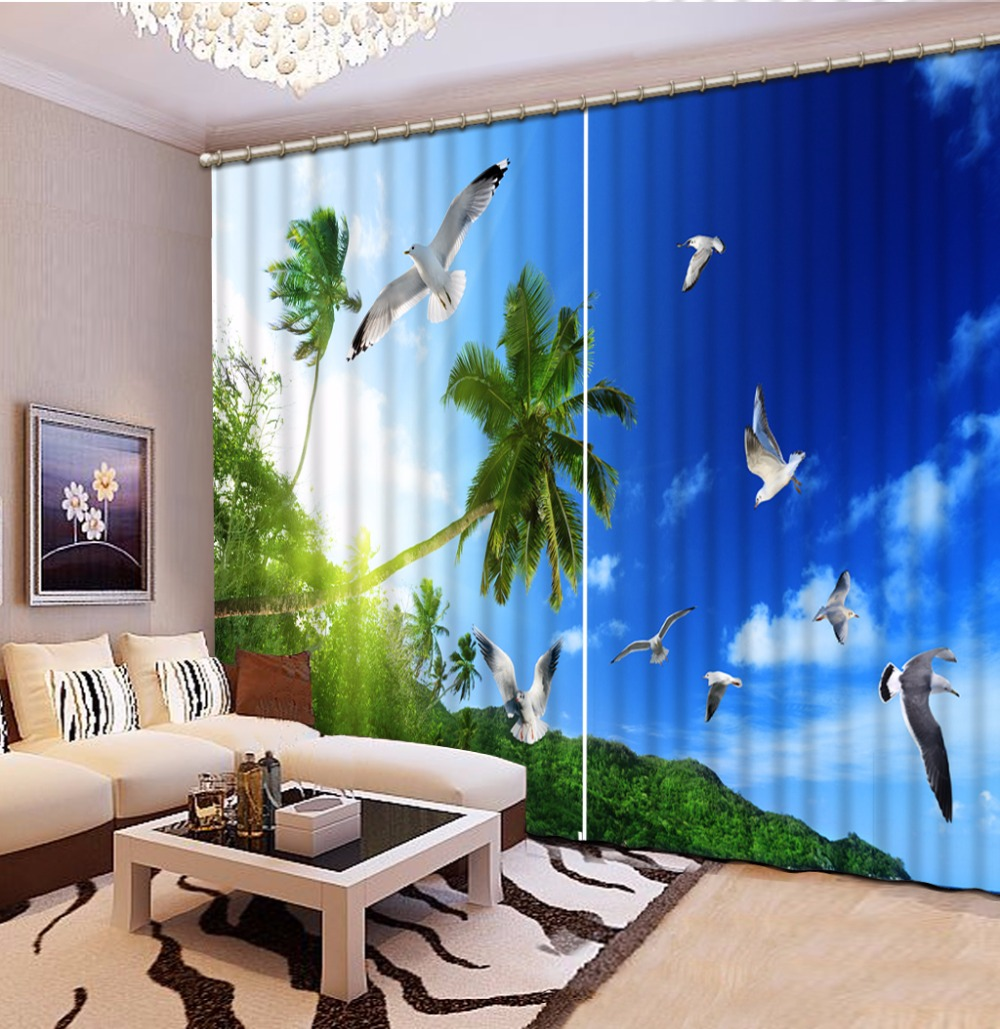Bedroom Curtains Modern Fashion 3D Curtains Living Room Window Decoration pigeon tree Blackout Window Curtains DrapesBedroom Curtains Modern Fashion 3D Curtains Living Room Window Decoration pigeon tree Blackout Window Curtains Drapes