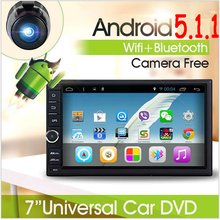 free Rear Camera included Android 5.1 Autoradio GPS Bluetooth Navigation Car headunit Stereo Player two 2 DIN SD USB 3G WIFI