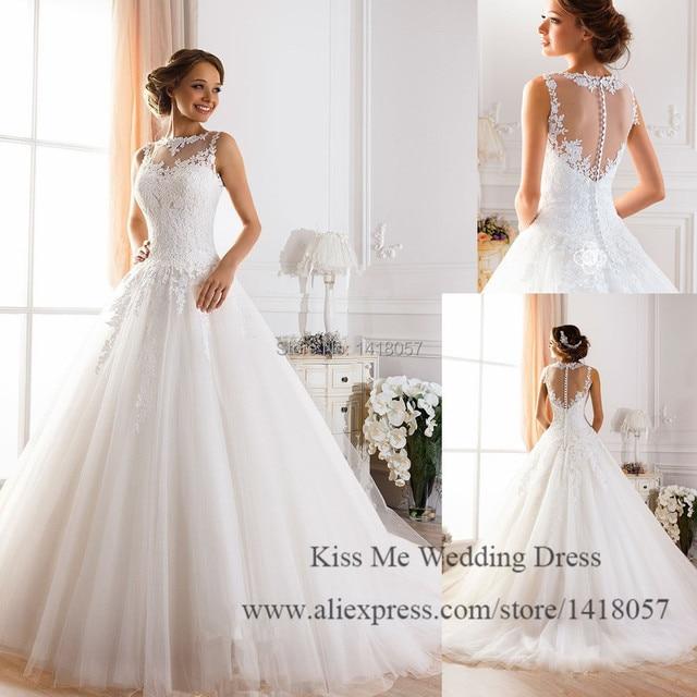 Aliexpress.com : Buy New Dreamy Design Wedding Dresses 2015 Lace ...