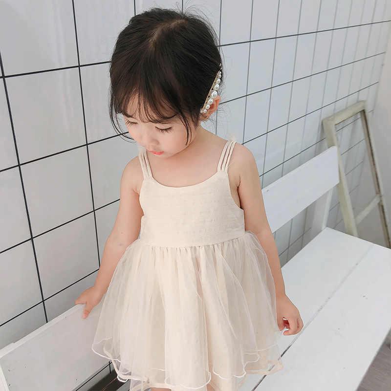 20291505e Girls Dress Summer 2019 New Mesh Long Lace Cartoon Tutu Princess ...