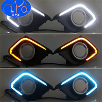 Turn Signal Light Or 3 Color Model 12V LED Car DRL Daytime Running Lights With Fog