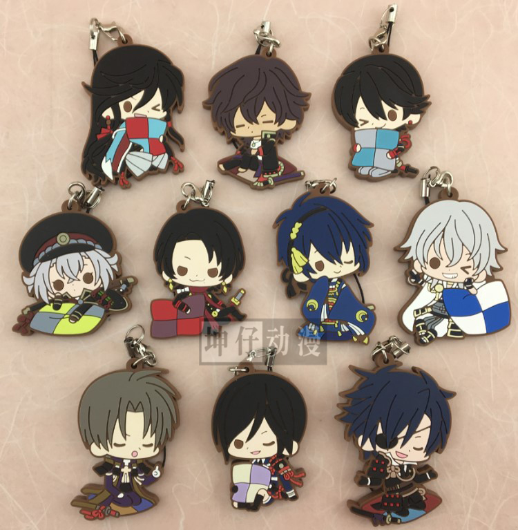 Touken Ranbu Online Game Tsurumaru Souzasamonji Kousetsusamonji Ichigo Hitofuri Rest Ver Rubber Keychain ensemble stars anime idol high school game team trickstar bean eye ver japanese rubber keychain