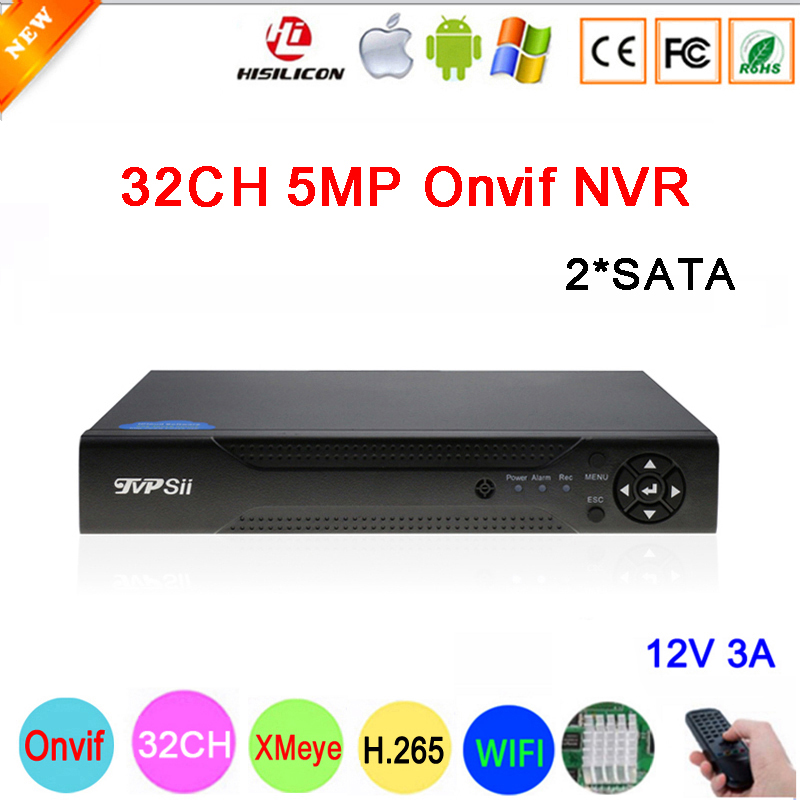 Hi3536C XMeye 8CH*4K/32CH*5MP Surveillance Video Recorder 32CH 32 Channel 5mp IP Onvif  WIFI CCTV NVR Free Shipping-in Surveillance Video Recorder from Security & Protection