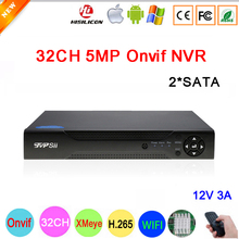 Remote Control H.265+ Hi3536C XMeye 8CH*4K/32CH*5MP Surveillance Video Recorder 32CH 32 Channel 5mp IP Onvif  WIFI CCTV NVR