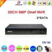 Télécommande H.265 + Hi3536C XMeye 8CH * 4 K/32CH * 5MP enregistreur vidéo de Surveillance 32CH 32 canaux 5mp IP Onvif WIFI CCTV NVR