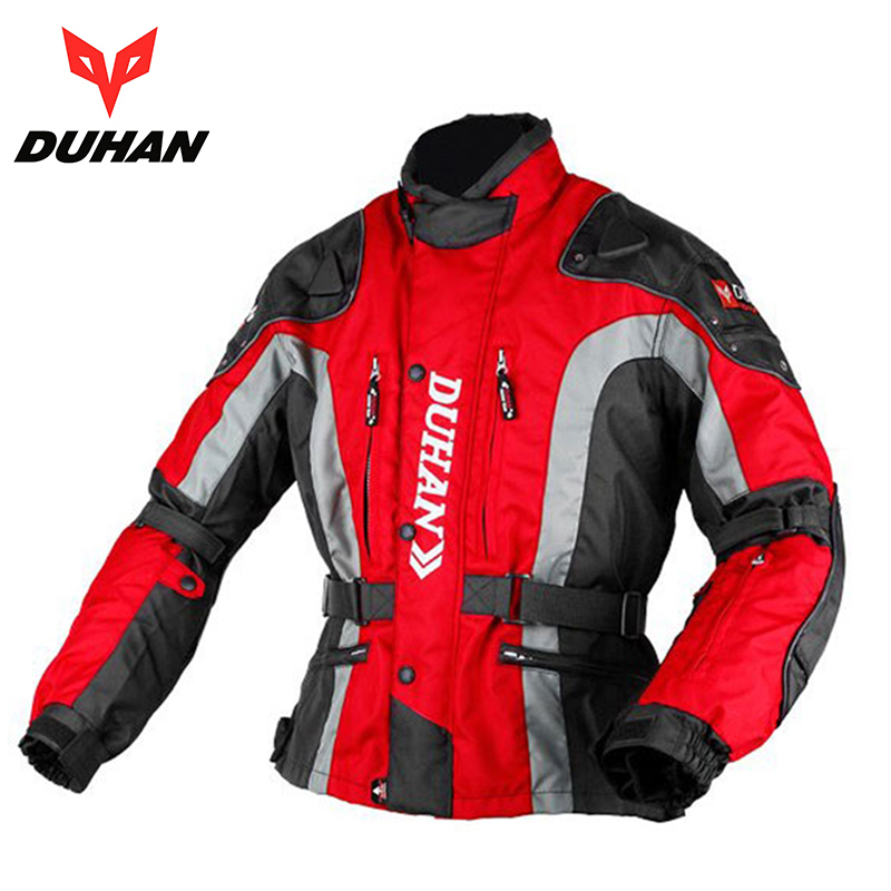 DUHAN Warm Off-road Motocross Jacket Motorcycle Racing Cotton Underwear Clothing Men Motorbike Motorcycle Jackets duhan oxford cloth motorcycle jacket motocross off road racing jacket men rider clothes with five pcs protector gurds