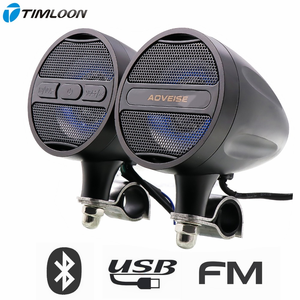 High Power Waterproof MP3 Music Stereo Audio Player Bluetooth Speakers for Motorcycle with FM Radio USB In Bluetooth motorcycle mp3 music player speakers motorbike bluetooth stereo speaker fm radio waterproof adjustable bracket audio player