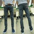 2017 Men Jeans Male Casual  Denim pants Men's Sweater snow back pocket  jeans Slim Wholesale Jeans man trousers 28''-34''