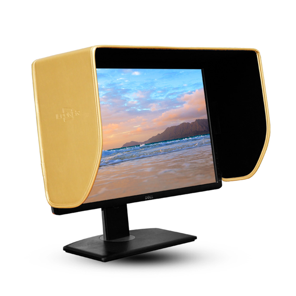 iLooker 27-inch Golden Edition LCD LED Video Monitor Hood Sunshade Sunhood for Dell HP Viewsonic Philips Samsung LG EIZO NEC