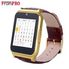 Frompro w90 smart watch reloj con sim/tf ranura de la tarjeta de mensaje push fm radio auricular bluetooth conectividad cámara para android ios