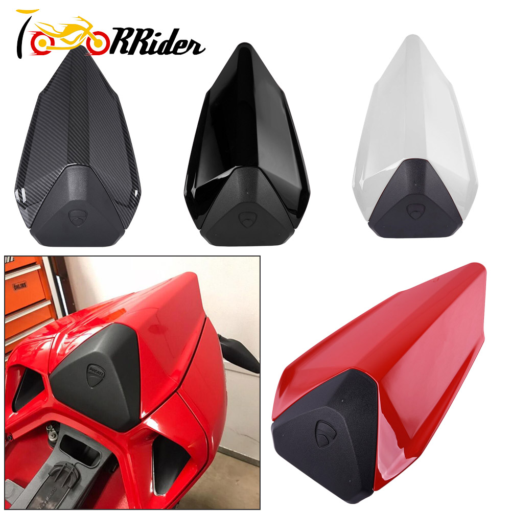 Motorcycle ABS Plastic Rear Pillion Passenger Hard Seat Cowl Cover Section Fairing For 2012-2015 Ducati 899 1199 2013 2014