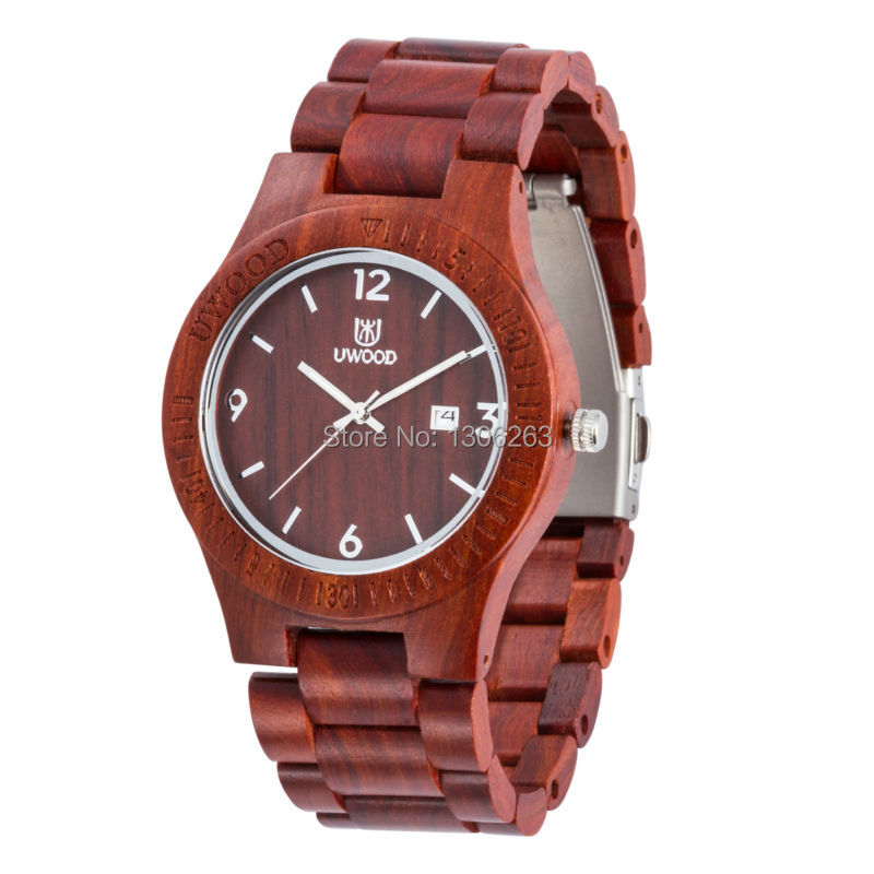 4 Color Available Uwood Wristwatch Wooden Water Resistant Wooden WristWatch Women Men Wood Wristwatch Wooden