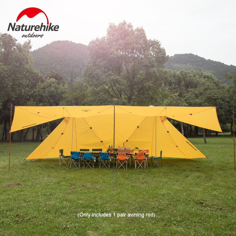 Outdoor Camping 20D Twin Peaks A-type Awning Rainproof Awning Tent NH17T015-M тенты зонты awning