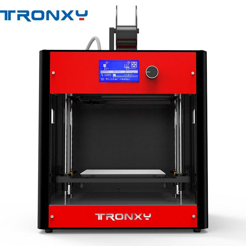 Tronxy? C5 FDM Полный Собранный Из Металла 3D принтеры 210*210*210 мм печати Размеры с двумя вентиляторами/двойной Z винтов/ЖК дисплей Экран