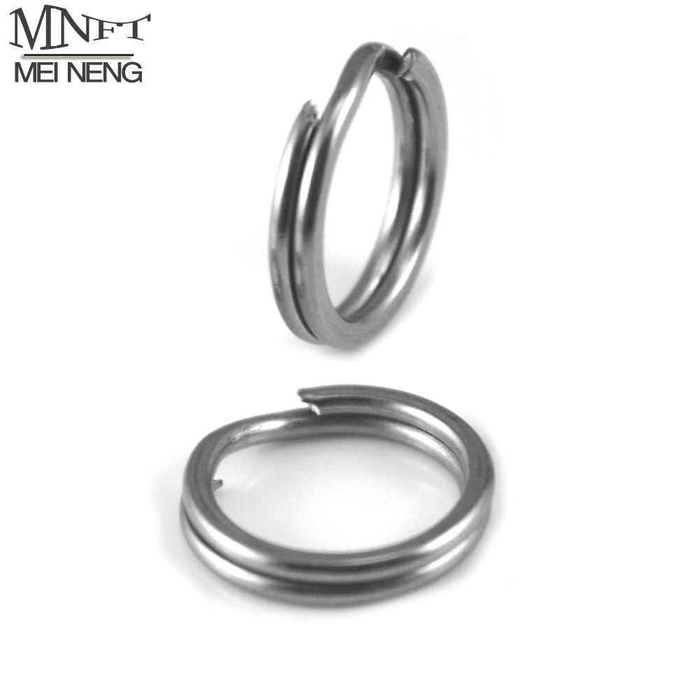 MNFT 50Pcs Squashed Fishing Dual Ring Round Double Layer Hard Lure Bait Connector Double Loop Quick Change O Rig