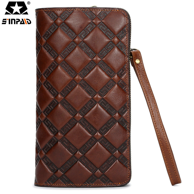 Sinpaid HOT Genuine Crazy Horse Cowhide Leather Men Wallet Short Coin Purse Small Vintage Wallet Brand High Quality Designer-5 2017 genuine cowhide leather brand women wallet short design lady small coin purse mini clutch cartera high quality