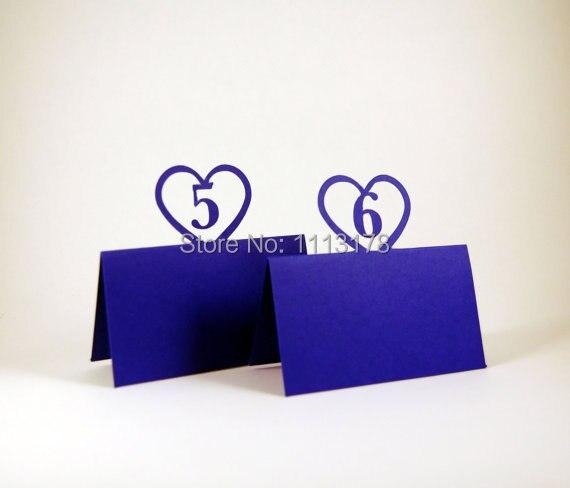 US $12.8 20% di SCONTO|Cuore tavolo Carte Sul Tavolo personalizzati numero  di Matrimoni, Escort, Carte Sul tavolo. Carta di Soggiorno, Reception, ...