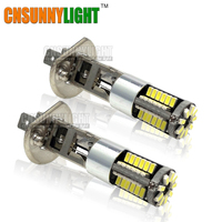2pcsX H1 High Power LED Headlight Bulb Lamp Fog Lights Auto Car 12V Super White 6000K