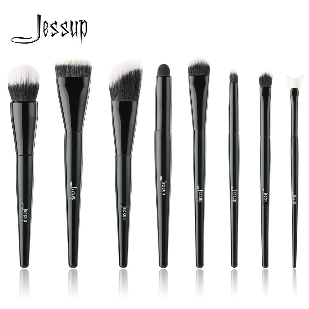 где купить Jessup brushes 8pcs Makeup Brushes brush Set Kabuki Foundation Eyeshadow Beauty Duo Professional Make up Tools Kit Cosmetics по лучшей цене