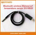Envío Gratis Bluetooth wireless Impermeable DS18B20 sensor de temperatura para android Bluetooth puerto serie USB fuente de alimentación Del Sensor