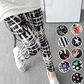 2016 Outono Inverno Mulheres Leggings Moda Elastic Digital Estrelas Graffiti Impresso leggings natal Calzas Leggins Mujer