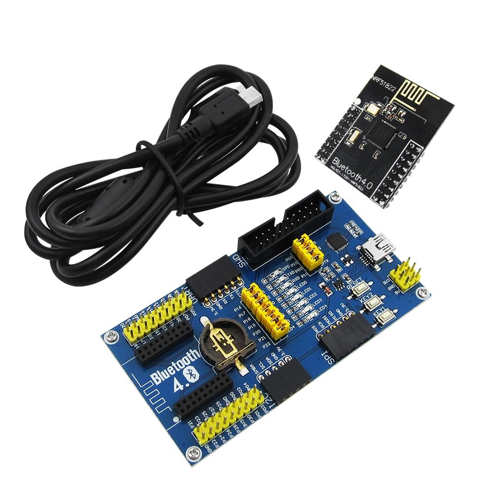 1set BLE4.0 Bluetooth NRF51822 Module 2.4G Wireless Communication Module Transmitter Receiver Development Evaluation Kit