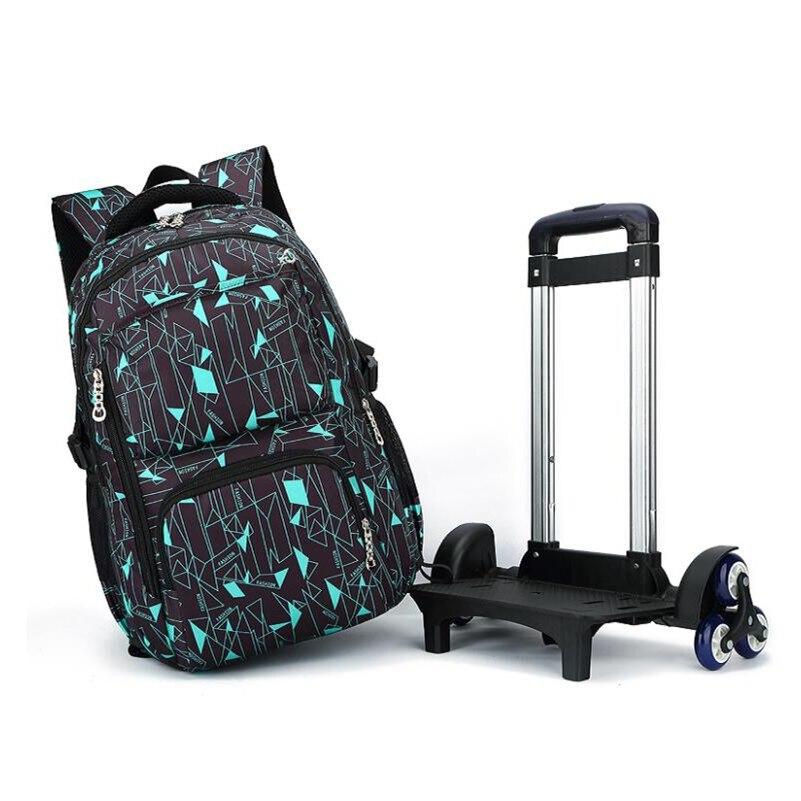 ที่ถอดออกได้เด็กกระเป๋านักเรียนบนล้อเด็กรถเข็นกระเป๋ากลิ้งกระเป๋าเป้สะพายหลังโรงเรียนสตรีประถมเด็กนักเรียนเป้-ใน กระเป๋านักเรียน จาก สัมภาระและกระเป๋า บน   3